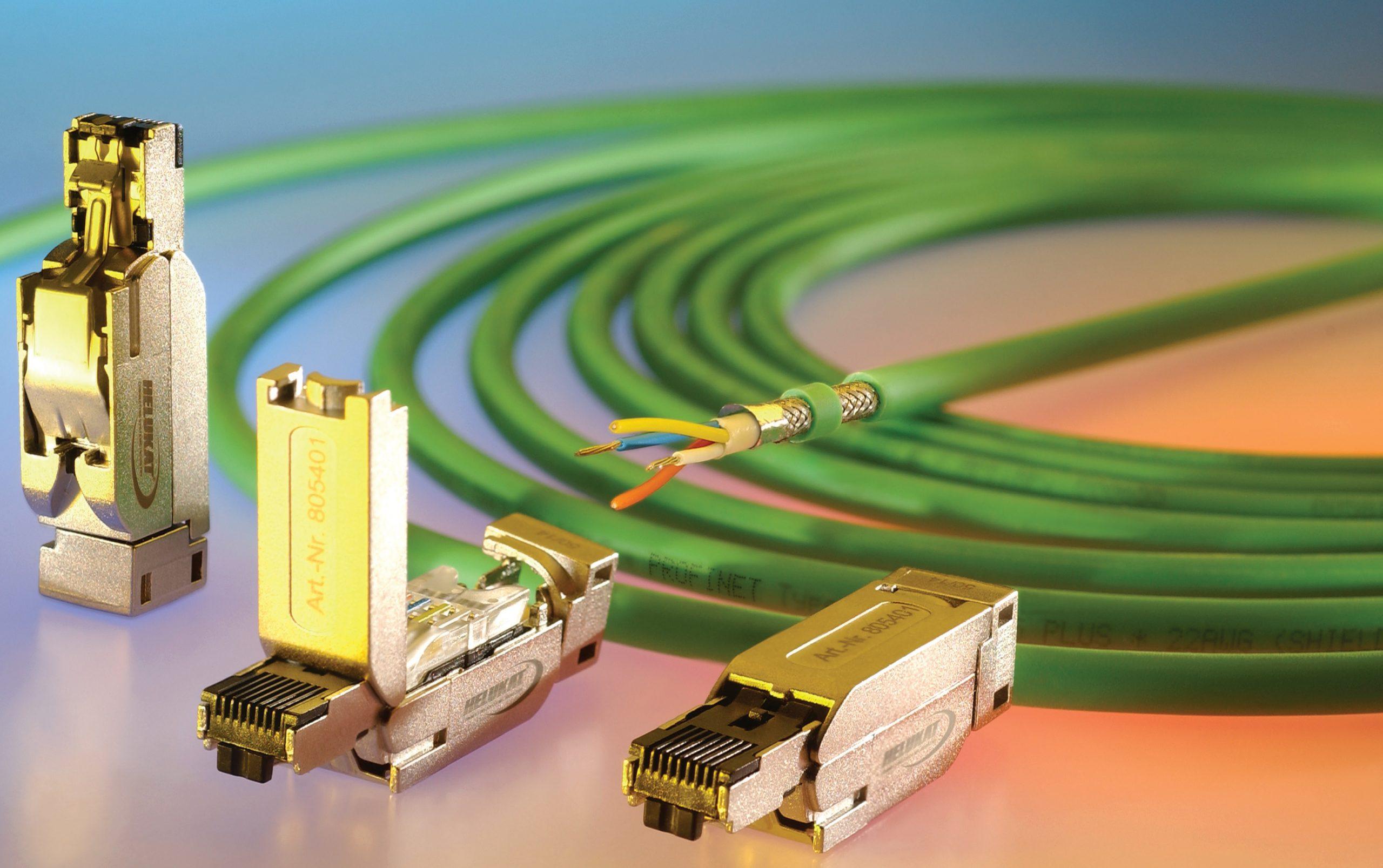 Conector industrial com tecnologia de conexão rápida PROFINET®